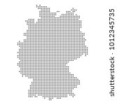 vector dotted map of germany. | Shutterstock .eps vector #1012345735