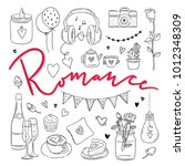 romance hand drawn... | Shutterstock .eps vector #1012348309