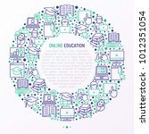 online education concept in... | Shutterstock .eps vector #1012351054
