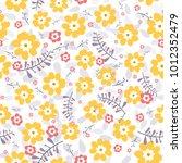 cute seamless floral pattern.... | Shutterstock .eps vector #1012352479