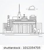 linear illustration of berlin ... | Shutterstock .eps vector #1012354705