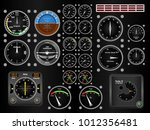 plane dashboard aviation... | Shutterstock .eps vector #1012356481