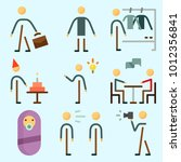 icons set about human with... | Shutterstock .eps vector #1012356841
