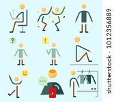 icons set about human with... | Shutterstock .eps vector #1012356889