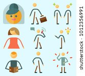 icons set about human with male ... | Shutterstock .eps vector #1012356991