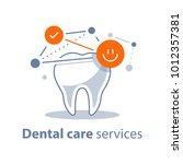 dental care  prevention check... | Shutterstock .eps vector #1012357381