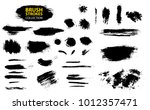 set of black paint  ink  grunge ... | Shutterstock .eps vector #1012357471