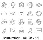 simple set of quality related... | Shutterstock .eps vector #1012357771