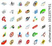 instruction icons set.... | Shutterstock .eps vector #1012357951