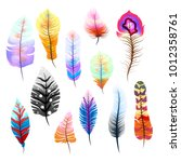 big set of different colorful... | Shutterstock .eps vector #1012358761