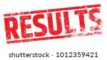 results rubber stamp | Shutterstock .eps vector #1012359421
