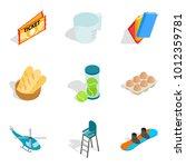 elite hobby icons set....   Shutterstock .eps vector #1012359781