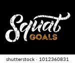 squat goals lettering quote.... | Shutterstock .eps vector #1012360831
