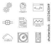 upgrade tech icons set. outline ... | Shutterstock .eps vector #1012362049