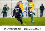 soccer football match. single... | Shutterstock . vector #1012362574