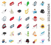 good manners icons set.... | Shutterstock .eps vector #1012363504