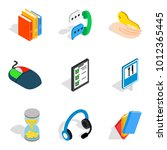 isometric set of 9 technical... | Shutterstock .eps vector #1012365445