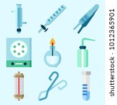 icons set about laboratory with ... | Shutterstock .eps vector #1012365901