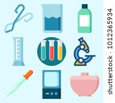 icons set about laboratory with ... | Shutterstock .eps vector #1012365934