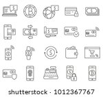 simple set of payment method... | Shutterstock .eps vector #1012367767