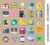 icon set about marketing with... | Shutterstock .eps vector #1012368694