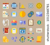 icon set about marketing with... | Shutterstock .eps vector #1012368781