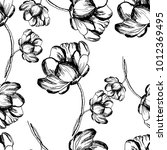 seamless floral pattern in... | Shutterstock .eps vector #1012369495