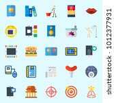icons set about lifestyle with... | Shutterstock .eps vector #1012377931