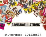 word congratulation with cut... | Shutterstock . vector #101238637