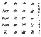 Stock vector horse sports icons 1012390255