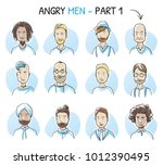set of various angry ...   Shutterstock .eps vector #1012390495