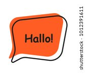 shifted color speech bubble   Shutterstock .eps vector #1012391611