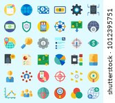icons set about marketing with...   Shutterstock .eps vector #1012395751
