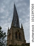 Small photo of The famous crooked spire of St Marys Church in Chesterfield, Derbyshire.