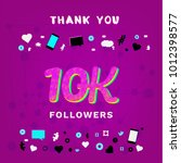 10k followers thank you banner... | Shutterstock .eps vector #1012398577