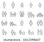 simple set of family related... | Shutterstock .eps vector #1012398607
