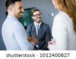 business people having fun in... | Shutterstock . vector #1012400827