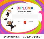 kids diploma certificate... | Shutterstock .eps vector #1012401457