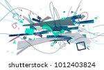 abstract trendy design... | Shutterstock . vector #1012403824