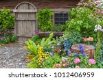 landscaped backyard of a old... | Shutterstock . vector #1012406959