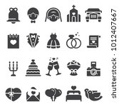 wedding icons black edition | Shutterstock .eps vector #1012407667
