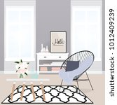 cozy corner with a chair | Shutterstock .eps vector #1012409239
