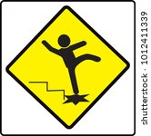 be careful steps  sign  warning ... | Shutterstock .eps vector #1012411339