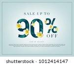 90  lettering handmade with... | Shutterstock .eps vector #1012414147