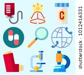 icons set about medical with... | Shutterstock .eps vector #1012416331