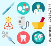 icons set about medical with... | Shutterstock .eps vector #1012417549
