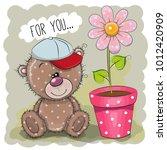 greeting card cute cartoon...   Shutterstock .eps vector #1012420909