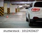 driver side of white modern car ...   Shutterstock . vector #1012423627