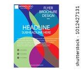 brochure  flyer vector   Shutterstock .eps vector #1012427131