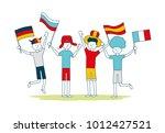 vector illustration friends...   Shutterstock .eps vector #1012427521
